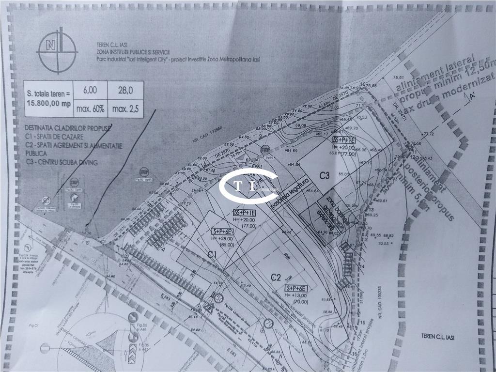 Teren 15.800 mp, C.A. Rosetti, PUZ aprobat, CUT 2,5, comision zero
