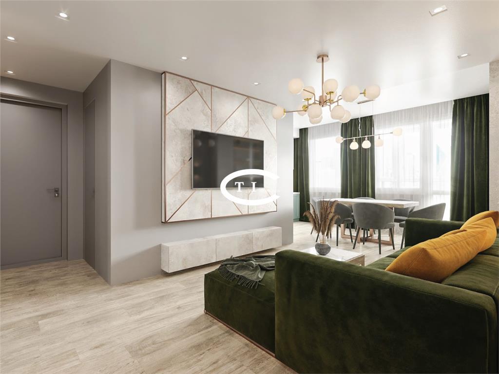 Dacia apartament nou 58.92 mp, decomandat, de vanzare COMISION 0%