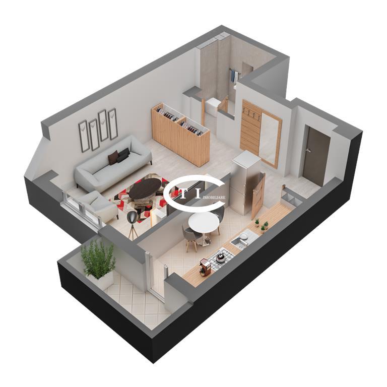 Dacia apartament O CAMERA 40.53 mp, decomandat, de vanzare COMISION 0%