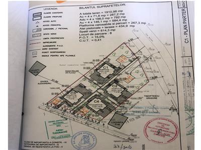 Teren 1911 mp, soseaua Bucium, proiect pentru 4 case